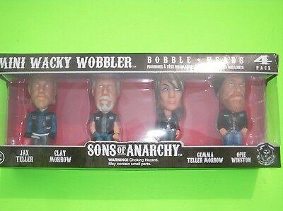 New Sons of Anarchy collectors edition bobble head SET Jax Clay Gemma Opie