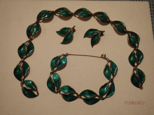 David Andersen jewelry set green VINTAGE