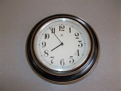 Infinity 11.5 inch decorative AA battery powered quartz movement wall clock used