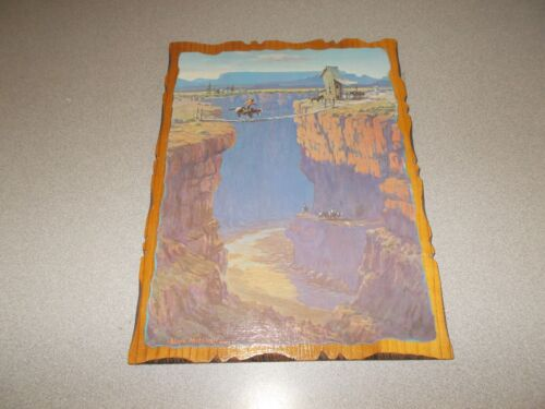 Lloyd Mitchell comic Western art Call of the Canyon decoupage wood wall plaque