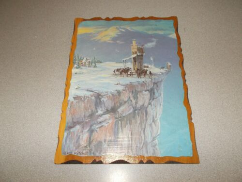 Lloyd Mitchell comic Western art Echo Valley decoupage wood wall plaque