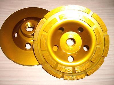 4 12 25 Pack Diamond Grinding Sanding Cup Wheel M14 Thread Concrete Grinder