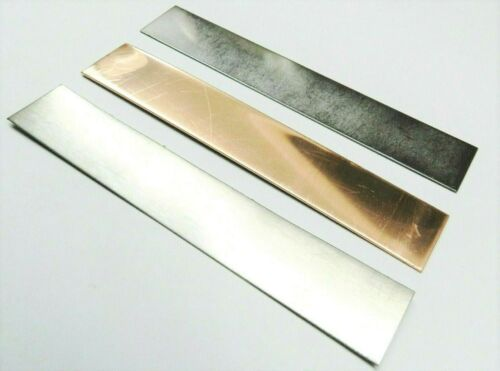 """Plating Anode Set of Copper Nickel Stainless Steel 1""""x 6"""" Jewelry Electroplating"""