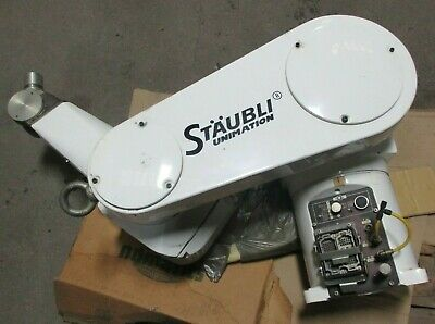 Staubli Rx90cr Robotic Arm Assembly W Controller Input Leads And Pendant