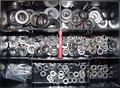 Sortiment Din 125 A2 V2A Beilagscheiben Unterlegscheiben Set 300 Teile Edelstahl