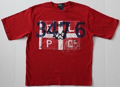 Ralph Lauren  Boys T-Shirt Tee Top Red Size S -10 NWT