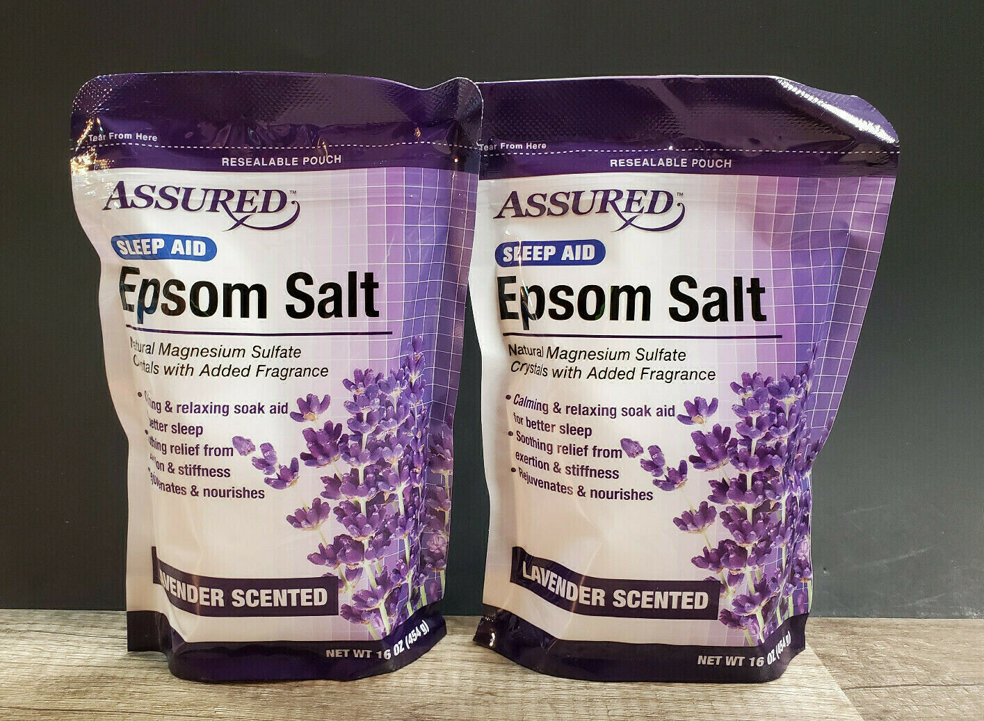 4LBS Lavender Epsom Salt Sleep Aid Bath Calming Relaxing Soa