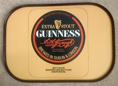 Vintage Retro 1970s Guinness Pub Bar Melamine Tray by Cloverleaf VGC Barware
