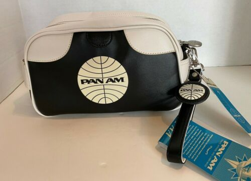 PAN AM Wash Bag, Originals, Certified Vintage Style PAN AM Black/White