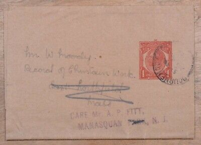 MayfairStamps Great Britain to Massachusetts Used Stationery Wrapper wwo79457