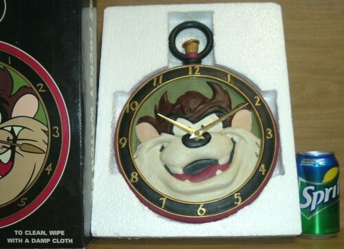 1995 Taz Tasmanian Devil Looney Tunes Pocket Watch Wall Clock WB Studio Store
