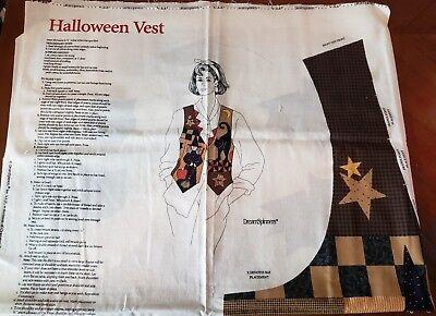 Halloween Vest FABRIC PANEL Dream Spinners