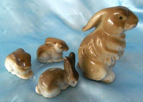vintage Porcelain Japan Rabbit Bunny Family Figurines
