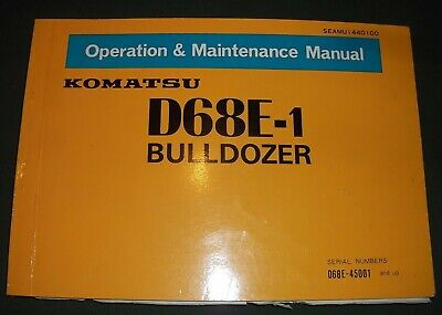 Komatsu D68e-1 Crawler Tractor Dozer Operation Maintenance Manual Sn 45001-up