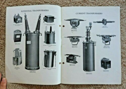 "1928 GENERAL ELECTRIC ""INSTRUMENT TRANSFORMERS"" ENGINEERING TECHNICAL DATA MINTY"