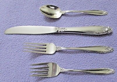 VINTAGE – INDIVIDUAL 4 PIECE PLACE SETTING – PRELUDE STERLING SILVER – NO MONO Prelude 4 Piece Place