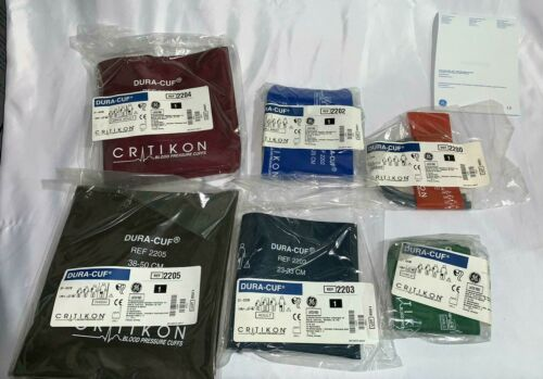 GE HealthCare Critikon Dura-Cuff  - Adult, Infant, Child, Thigh - All Sizes Lot6
