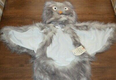 Pottery Barn Kids Woodland Owl Halloween Costume 7-8 Years NEW Gray