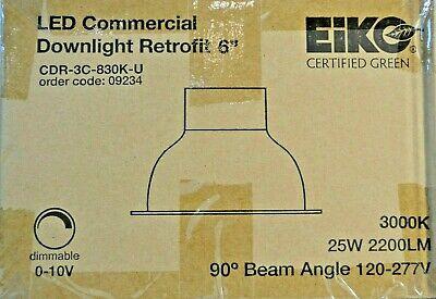 6 Led Commercial Recessed Can Retrofit 120-277v Down Light Kit 0-10v Dimming