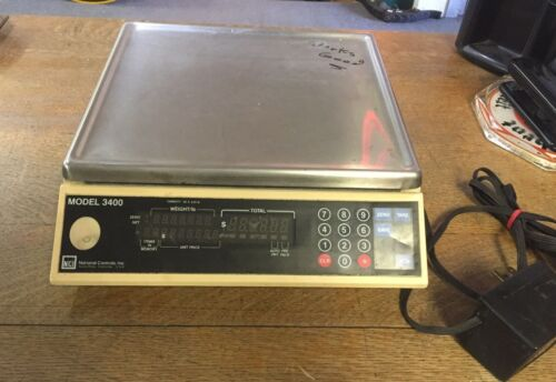 National Controls Commercial Electronic Scale Model 3400 ~ Used ~ Works Fine!