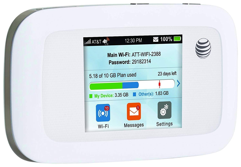 ZTE Velocity MF923 4G LTE AT&T  Black Hotspot Mobile Wifi