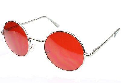 Round Red Lens Glasses Sunglasses Classic Men Womens Vampire Cosplay Retro (Red Glasses Lenses)