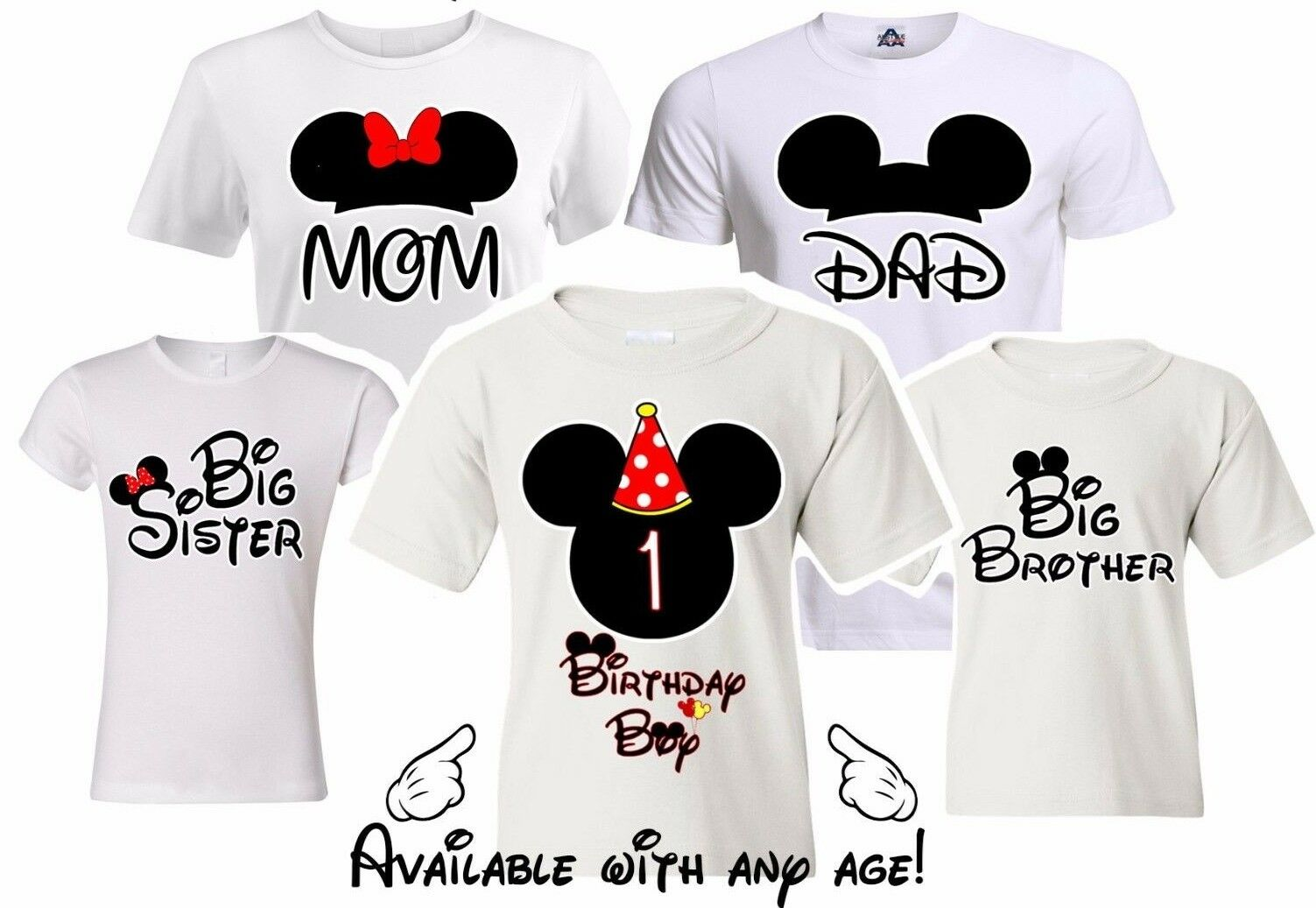 Disney Birthday Shirts Toddlers