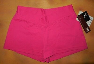NWT Dance Bloch Hot Pink V Front Booty Shorts Ladies Small Adult - Hot Pink Bloch Booties