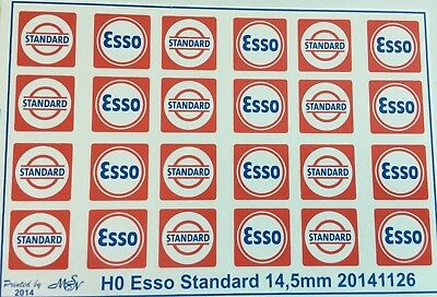 WEATHERED PEEL /& STICK ESSO GAS TIGER BUILDING SIGN DECALS O SCALE OSV435