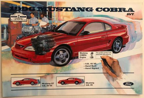 1996 MUSTANG COBRA POSTER