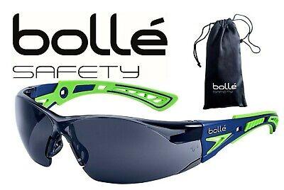 Bolle 40257 Rush Safety Glasses Smoke Anti-fog Lens Bluegreen Temples