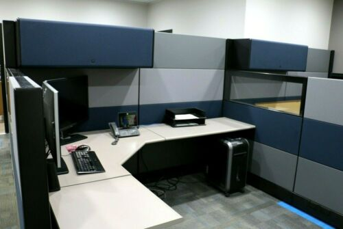Office Cubicles, Herman Miller Ethospace 6x8 Cubicles Cluster or 4 - Used