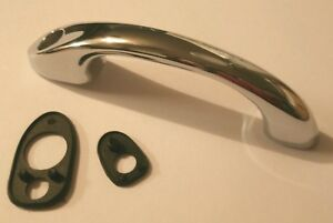VW Chrome Front Hood Release Handle with Seals 113823565F. VW Bug, Super Beetle