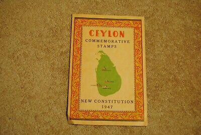 Vintage 1947 Ceylon Commemorative Stamps New Constitution Parliament Adams Kandy