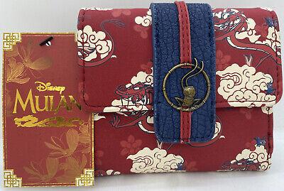 Loungefly Disney Mulan Red Zip Wallet Purse BRAND NEW