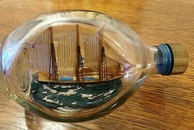 Vintage Haigs Dimple Whiskey Ship in Bottle