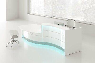 Valde Lav32l-lav33l 136 Curved Reception Desk With Counter Top