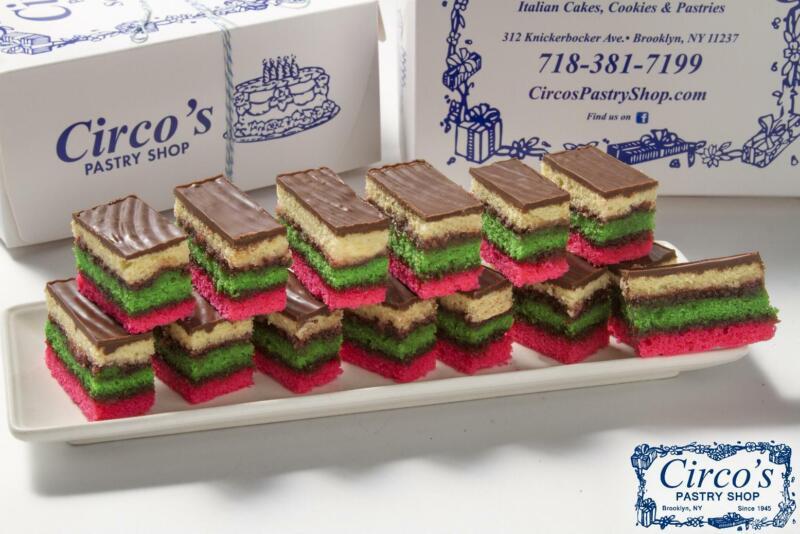 Rainbow Cookies (Tri-color) 1 Lb. Box