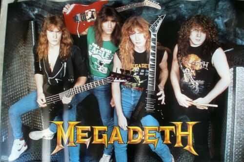 RARE MEGADETH 1988 VINTAGE ORIGINAL MUSIC POSTER