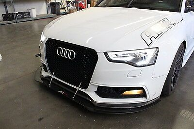 2013 2014 2015 Audi S5 Front Bumper Carbon Fiber Splitter