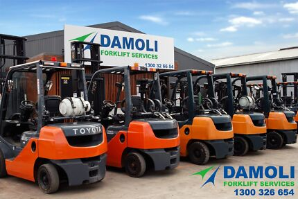 Late Model Toyota Forklifts for HIRE - TRY - BUY