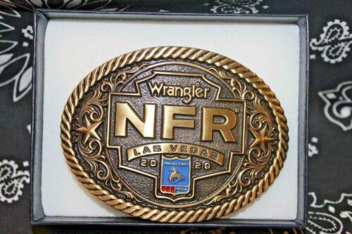 NIB Montana Silversmiths NFR Rodeo Buckle  Bronze Cast 2020 Las Vegas