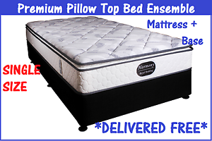 BRAND NEW Single Bed Ensemble - Pillow Top Mattress + Base New Farm Brisbane North East Preview