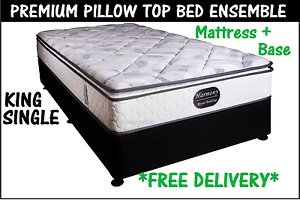 BRAND NEW King Single Bed Ensemble Mattress + Base FREE DELIVERY New Farm Brisbane North East Preview
