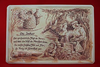 Blechschild - Die Imker 20x30 cm Berufschild Blechschilder  6 Bienenzüchter