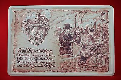 Blechschild Der Schornsteinfeger 20x30 cm Berufschild  Blechschilder 11