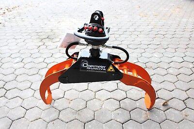 Holzzange OH008pro +Rotator -Verladezange-Rückezange-Holzgreifer-Forstgreifer