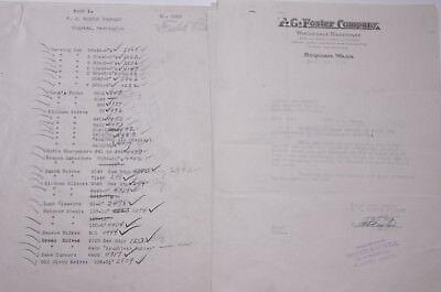 1929 Lamson Goodnow F G Foster Co Goquiam Wa Ephemera L472b