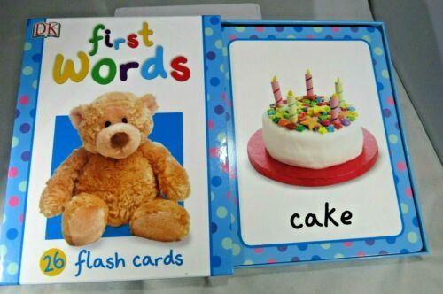 """First Words 26 Large Flash Cards 9 3/4 """" x 7 3/4 """" box set free shipping"""