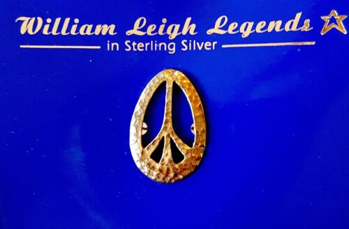 Beatles PEACE PIN Sterling Silver Jewelry ©1994 Gold Presentation Box RARE Mint